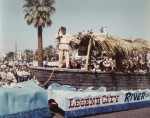 River of Legends boat on parade