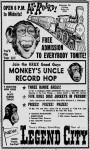 Monkey's Uncle Record Hop Ad
